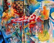 Political Paintings - For Tunis by Khalid Hussein