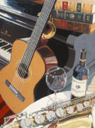 Red Wine Painting Posters - For Uncle O Number One  Poster by Christopher Mize