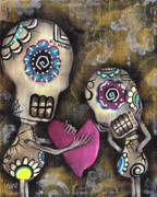 Skeleton Painting Prints - For You Print by  Abril Andrade Griffith