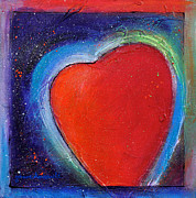 Abstract Heart Paintings - For You Heart 1 by Johane Amirault