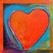 Abstract Heart Paintings - For You Heart 2 by Johane Amirault