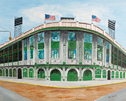 Pittsburgh Pirates Painting Framed Prints - Forbes Field Framed Print by Paul Cubeta