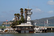 Forbes Prints - Forbes Island Restaurant With Alcatraz Island in The Background . San Francisco California . 7D14258 Print by Wingsdomain Art and Photography