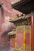 Ceramic Tile Prints - Forbidden City Gate, Beijing, China Print by Will & Deni McIntyre