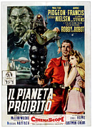 1956 Movies Prints - Forbidden Planet Aka Il Pianeta Print by Everett
