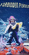 Robby The Robot Painting Framed Prints - Forbidden Planet  Framed Print by Judy Groves