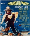 1950s Poster Art Photo Framed Prints - Forbidden Planet, Left Robby The Robot Framed Print by Everett