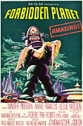 Classic Sf Posters Framed Prints - Forbidden Planet, Robby The Robot, Anne Framed Print by Everett