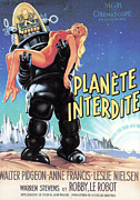 1950s Poster Art Photo Metal Prints - Forbidden Planet, Robby The Robot Metal Print by Everett