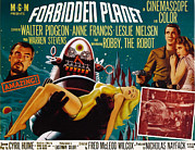 1950s Poster Art Framed Prints - Forbidden Planet, Walter Pidgeon, Anne Framed Print by Everett