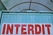 Authority Photos - Forbidden sign in French by Sami Sarkis