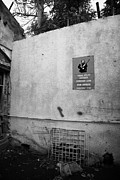 Stop Sign Photos - forbidden zone warning sign and walled restricted area of the UN buffer zone nicosia cyprus by Joe Fox