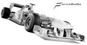Team Drawings - Force India 2011 by Lyle Brown