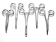 Scissors Framed Prints - Forceps Framed Print by Tek Image