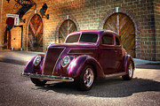 Purple Ford Photos - Ford - 1937 by Andrea Kelley