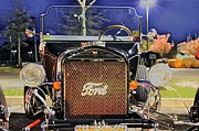 Ford Black Hot Rod Old School Print by Pictures HDR