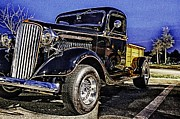 Classic Car.hot-rod Photos - Ford Classic Truck Stylin by Pictures HDR