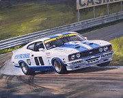 Australian Ford Prints - Ford Cobra - Moffat racing Australia Print by Colin Parker