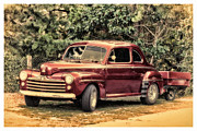 Antique Car Art Prints - Ford Coupe Print by Tony Grider