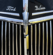 Truck Detail Prints - Ford Deluxe Grill Print by Bob Christopher