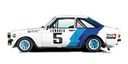 Automotive.digital Framed Prints - Ford Escort Framed Print by Alain Jamar