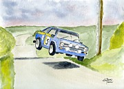 Rally Painting Posters - Ford Escort mk2 Poster by Eva Ason