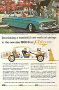 Family Car Posters - Ford Falcon Poster by Nomad Art And  Design