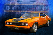 Ford Falcon Coupe Posters - Ford Falcon XB 351 GT Coupe Poster by Stuart Row