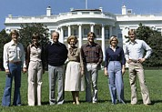 Betty Ford Photos - Ford Family Portrait On The White House by Everett