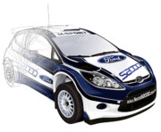 Wrc Posters - Ford Fiesta WRC Rally car Poster by Roy Scorer