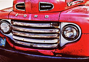 Chevy Pickup Prints - Ford Grille Print by Michael Thomas