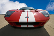 Red Car Art - Ford GT by Peter Tellone