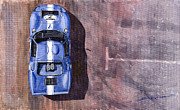 Paper Paintings - Ford GT40 Leman Classic by Yuriy  Shevchuk