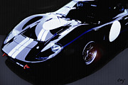Stripe.paint Posters - Ford GT40 Nocturne Poster by Curt Johnson