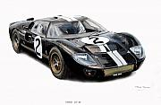 Bruce Painting Originals - Ford GT40 by Steve Jones