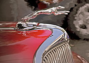 Collector Hood Ornament Digital Art Prints - Ford Hound Print by Gwyn Newcombe