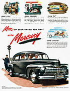Police Woman Prints - Ford Mercury Ad, 1946 Print by Granger