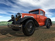Model A Digital Art - Ford Model A by John Pangia