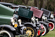 Ford Model A Line Up Print by April Wietrecki Green