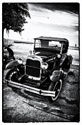 Ford Model T Car Digital Art Framed Prints - Ford Model T Film Noir Framed Print by Bill Cannon