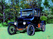Ford Model T Car Painting Posters - Ford Model T Poster by Stan Hamilton