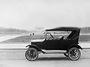 Ford Model T Car Posters - Ford Model T, Touring Car With Room Poster by Everett
