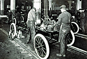 Factory Workers Framed Prints - Ford Motor Company In The Early 1900s Framed Print by Everett