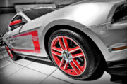 White Digital Art Originals - Ford Mustang Boss 302 by Gordon Dean II