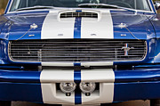 Muscle Photo Metal Prints - Ford Mustang Grille Emblem Metal Print by Jill Reger