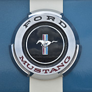 Ford Mustang Framed Prints - Ford Mustang GT 350 Emblem Gas Cap Framed Print by Jill Reger