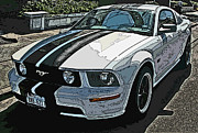 Samuel Sheats Posters - Ford Mustang GT No. 2 Poster by Samuel Sheats