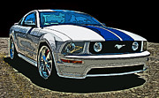 Sam Sheats Framed Prints - Ford Mustang GT Framed Print by Samuel Sheats