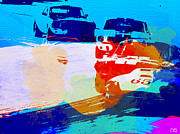 Laguna Seca Prints - Ford Mustang Watercolor Print by Irina  March