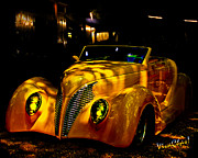 39 Ford Framed Prints - Ford Roadster Framed Print by Chas Sinklier